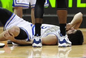 Ricky Rubio is rehabbing a torn ACL. (AP)