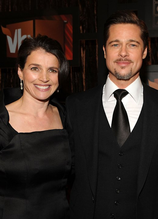 Julia Ormond and Brad Pitt