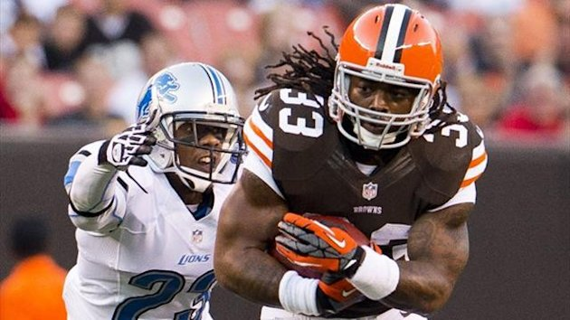 Running back Trent Richardson when playing for the Cleveland Browns (AFP)