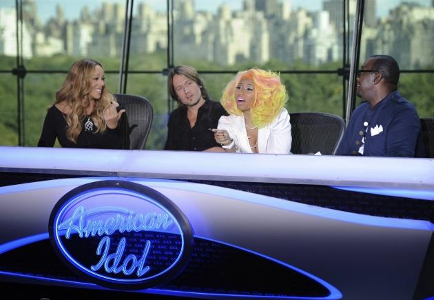 Mariah Carey, Keith Urban, Nicki Minaj and Randy Jackson at the New York auditions of 'American Idol,' Season 12 -- FOX