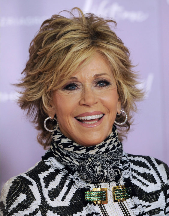 FILE - This Dec. 7, 2011 file photo shows actress Jane Fonda arriving at The Hollywood Reporter's 20th annual Women in Entertainment Breakfast in Beverly Hills, Calif., celebrating the 100 most powerf