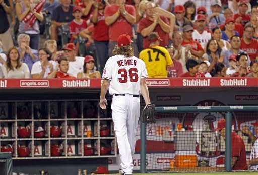 Rays rough up Weaver in 12-3 win over Angels