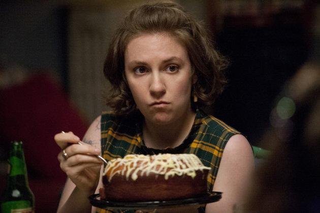 "Lena Dunham in the ""Girls"" Season 2 episode, ""It's a Shame About Ray."""