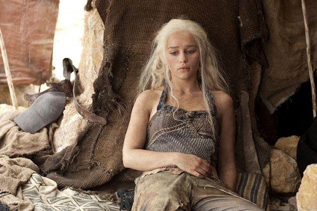 "Emilia Clarke as Daenerys Targaryen in ""Game of Thrones."""