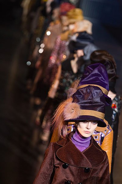 Louis Vuitton's Fall/Winter 2012 hats