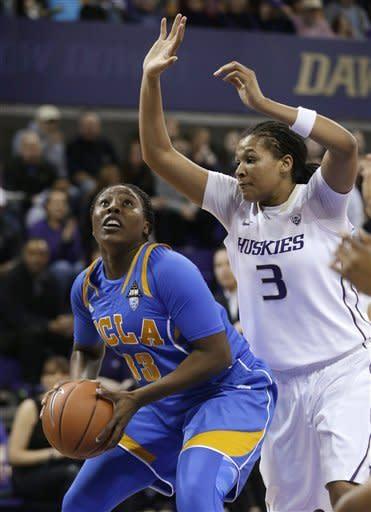 No. 17 UCLA women hold off Washington 65-61