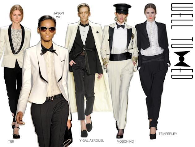Girls channeling their best guy is certainly nothing novel, but the emergence of the tux as the…