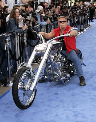 &quot;American Chopper&quot;'s Paul Teutul Sr. with the motorcycle he custome built for the Los Angeles premiere of Twentieth Century Fox's I, Robot