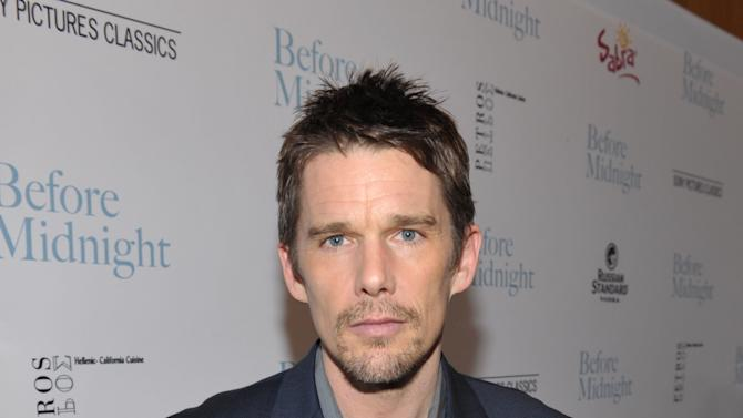 "IMAGE DISTRIBUTED FOR A-LIST COMMUNICATIONS - Ethan Hawke attends the Sony PIctures Classics premiere of ""Before Midnight"", on Tuesday, May 21, 2013 in Los Angeles. (Photo by John Shearer/Invision for A-List Communications/AP Images)"