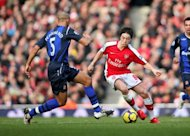 Arsenal's French player Sami Nasri (right) vies with Sunderland's Anton Ferdinand at the Emirates Stadium in London on February 20. A French Football Federation committee was on Friday examining whether to impose sanctions on four players including Nasri for disciplinary breaches during Euro 2012