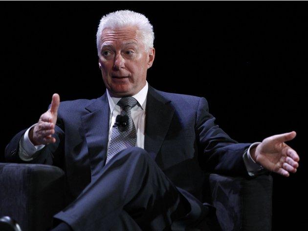 File photo of Lafley speaking during the World Business Forum in New York