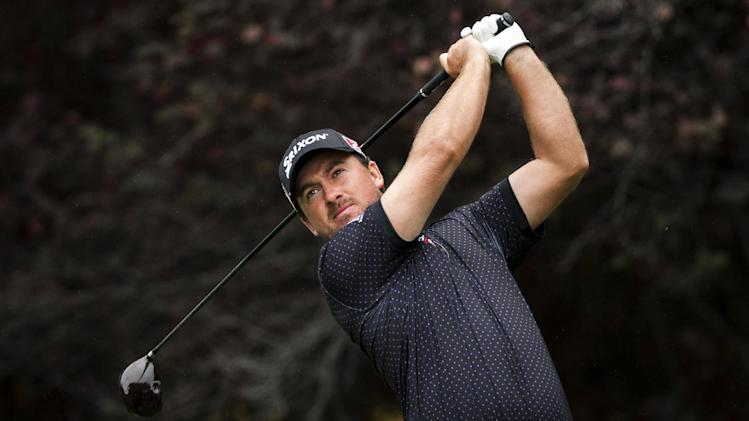 Graeme McDowell tees off on the second hole during the first round of the World Challenge golf tournament at Sherwood Country Club in Thousand Oaks, Calif., Thursday, Nov. 29, 2012. (AP Photo/Bret Hartman)