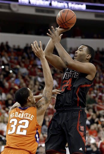 No. 14 NC State holds off Clemson 66-62