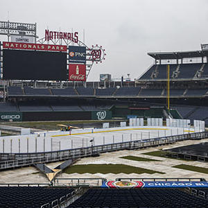 Nationals Stadium Preps for NHL Winter Classic
