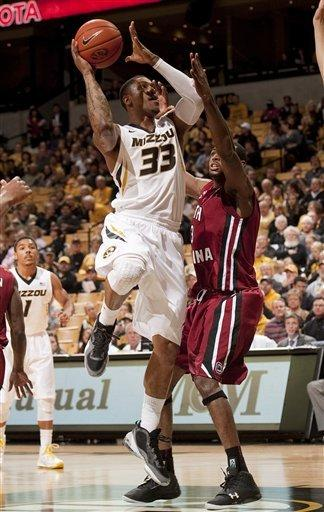 No. 22 Missouri rallies past South Carolina
