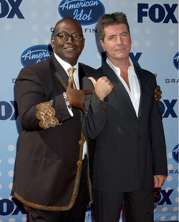 "Randy Jackson and Simon Cowell at the ""American Idol"" Season 6 Finale."