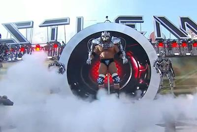 Triple H had a TERMINATOR ENTRANCE at Wrestlemania