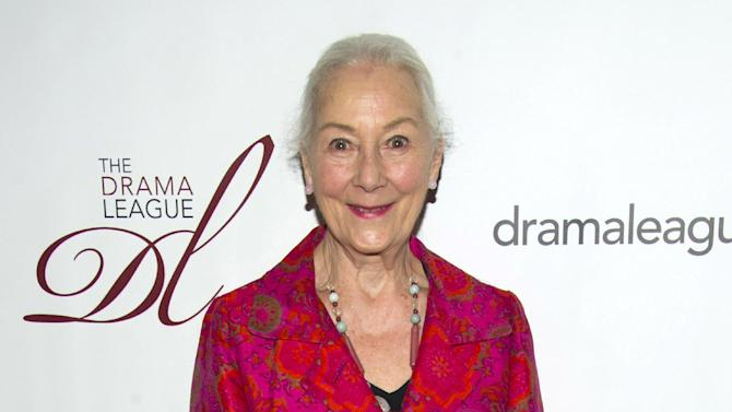 """FILE - This May 18, 2012 file photo shows actress Rosemary Harris at the 78th Annual Drama League Awards in New York. Harris has been lured back onto a New York stage for the upcoming revival of Tom Stoppard's """"Indian Ink."""" The Roundabout Theatre Company said Tuesday, Feb. 25, 2014, that Harris will star in the romantic tale, with performances to begin Sept. 4 at the Harold and Miriam Steinberg Center for Theatre. (AP Photo/Charles Sykes, File)"""