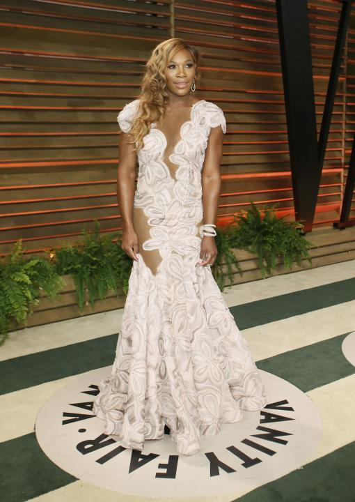 Williams arrives at the 2014 Vanity Fair Oscars Party in West Hollywood