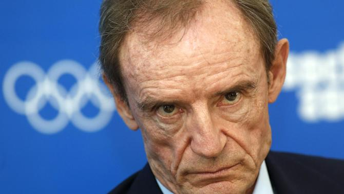 "Chairman of the IOC Coordination Commission for Sochi 2014, Jean-Claude Killy, listens to questions, during a news conference in Sochi, Russia, Thursday, Sept. 26, 2013. The International Olympic Committee says it is ""fully satisfied"" that Russia's law banning gay propaganda does not violate the anti-discrimination guarantees of the Olympic charter. IOC chairman Jean-Claude Killy said during a news conference Thursday that the committee deliberated for several days, but concluded that ""the IOC doesn't have the right to discuss the ... laws that are in place in the country hosting the games"" unless the Olympic charter is clearly violated. (AP Photo/Sergei Grits)"