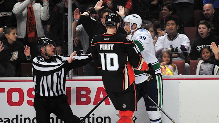 NHL: Vancouver Canucks at Anaheim Ducks