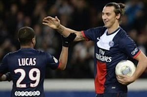 Paris Saint-Germain 3-1 Nice: Ibrahimovic hat trick sees champions pull clear of Monaco