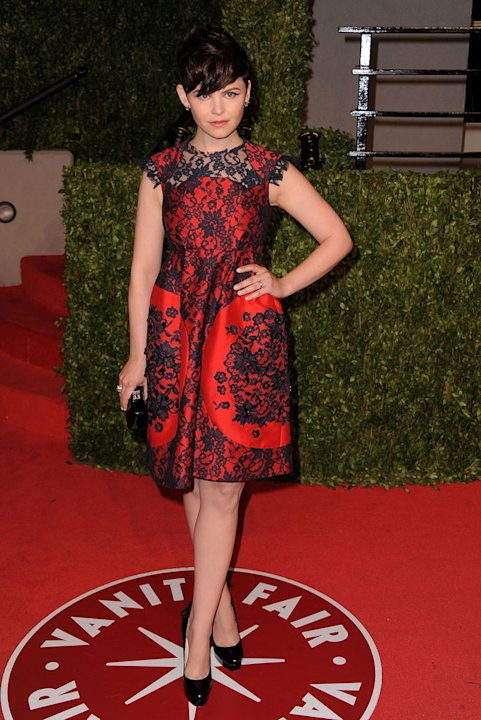 Ginnifer Goodwin arrives at the Vanity Fair Oscar party hosted by Graydon Carter held at Sunset Tower on February 27, 2011 in West Hollywood, California.
