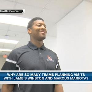 What is the possibility that Florida State quarterback Jameis Winston does not go No. 1?