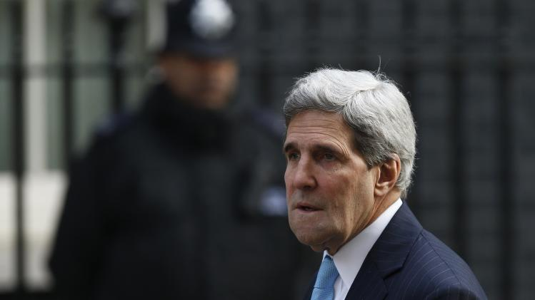 U.S. Secretary of State John Kerry arrives at Number 10 Downing Street in London