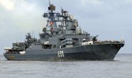 The Admiral Chabanenko Russian destroyer at Havana's harbor in 2008. A Russian naval flotilla of warships destined for the Syrian port of Tartus has entered the Mediterranean, Russia's defence ministry said Tuesday