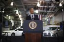 U.S. President Barack Obama delivers remarks on energy at the Argonne National Lab near Chicago