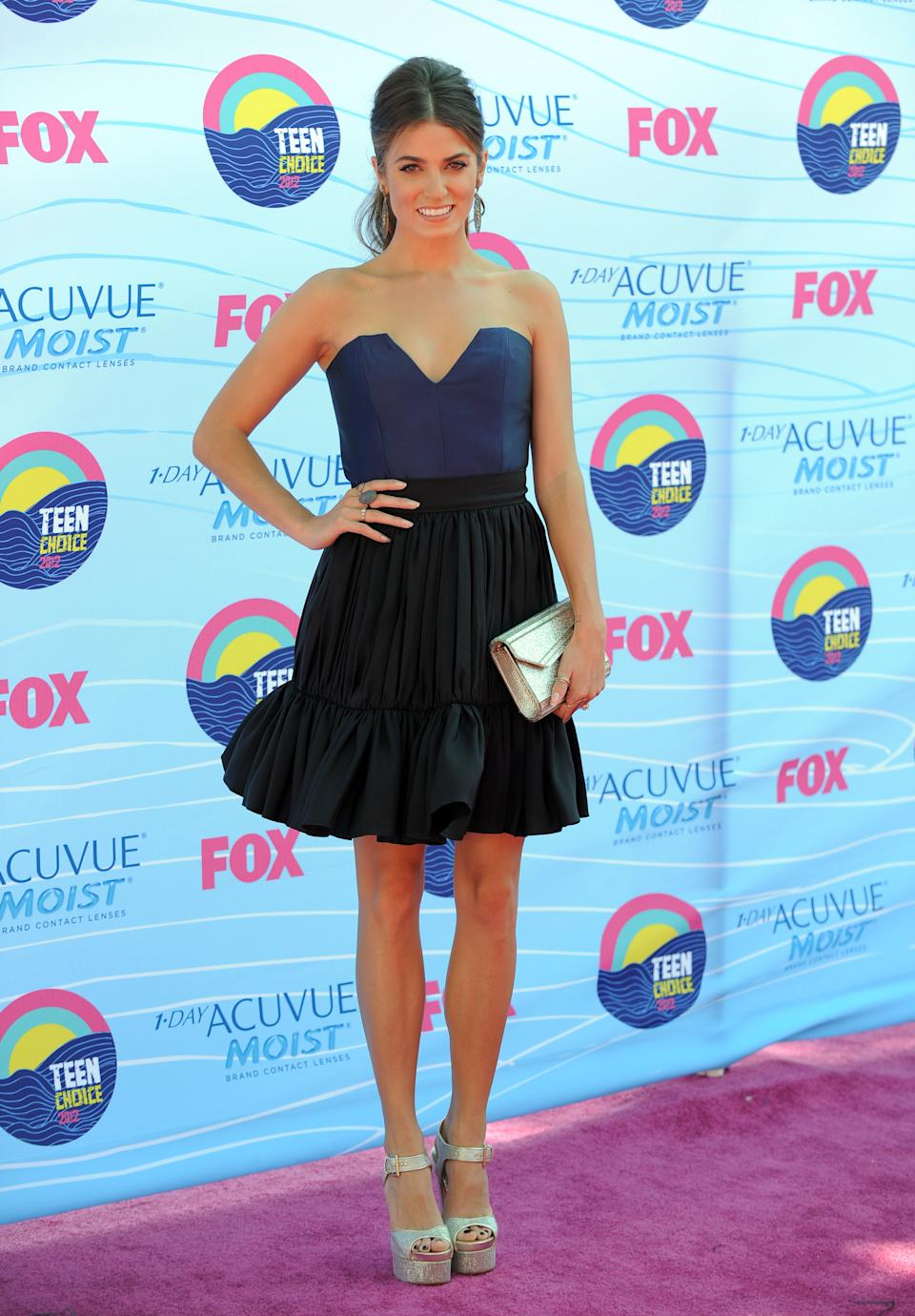 Nikki Reed arrives at the Teen Choice Awards on Sunday, July 22, 2012, in Universal City, Calif. (Photo by Jordan Strauss/Invision/AP)