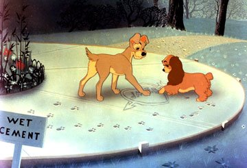 Tramp and Lady in Walt Disney Pictures' Lady and the Tramp
