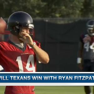 Is Ryan Fitzpatrick the answer at quarterback for the Houston Texans?