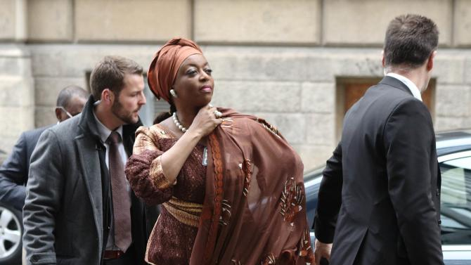 Nigeria's Oil Minister Alison-Madueke arrives for a meeting of OPEC oil ministers at OPEC's headquarters in Vienna