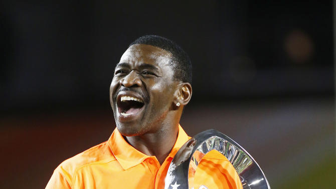Michael Irvin of Team Irvin celebrates their victory over Team Carter at the Pro Bowl on Sunday, Jan. 25, 2015 in Glendale, Ariz