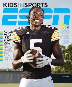 Dylan Moses' ESPN the Magazine cover — Twitter