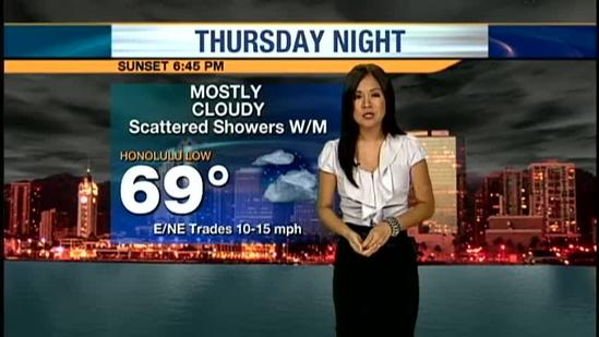 Thursday evening weather forecast