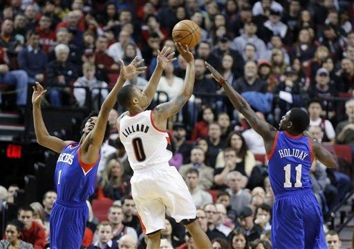 Batum sends Blazers to 89-85 win over 76ers