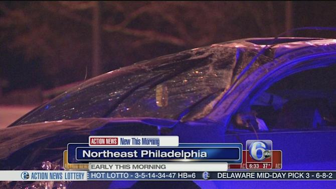 2 hurt in rollover crash on Roosevelt Boulevard in Northeast Philadelphia