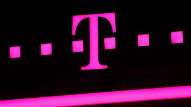 The logo of Deutsche Telekom is seen at a store in Bonn