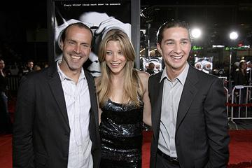 Director D.J. Caruso , Sarah Roemer and Shia LaBeouf at the Los Angeles premiere of DreamWorks Pictures' Disturbia