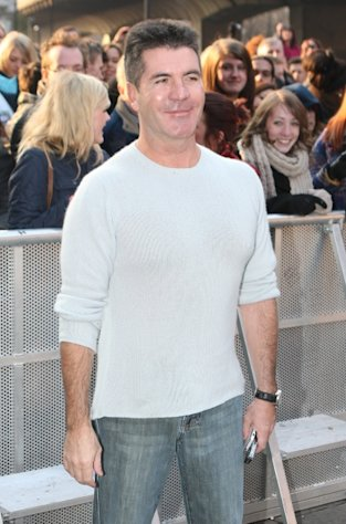 Simon Cowell attends the Britain&#39;s Got Talent London auditions day 2 at HMV Hammersmith Apollo on February 7, 2012 -- FilmMagic