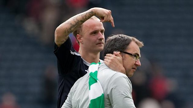 Pat Fenlon's, right, Hibs fought back to defeat Falkirk and reach the William Hill Scottish Cup final