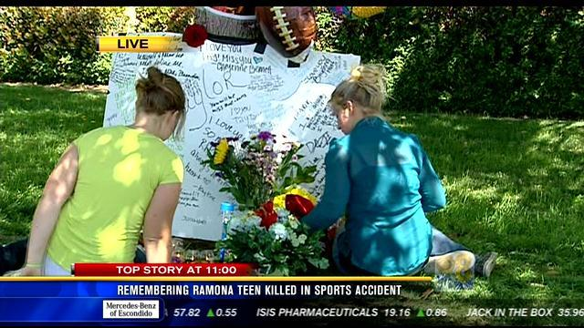 Remembering Ramona teen killed in sports accident