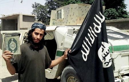 An undated photograph of a man described as Abdelhamid Abaaoud that was published in the Islamic State's online magazine Dabiq and posted on a social media website