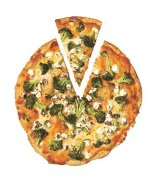 Broccoli & Goat Cheese Pizza