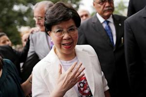 World Health Organization Director-General Chan arrives …