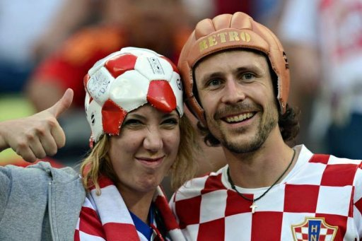 Fans of Croatia's national …