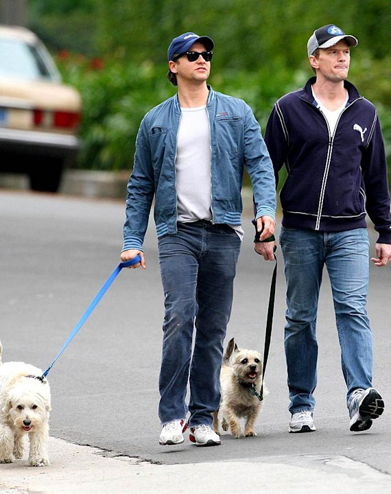Burtka Harris Walks Dog